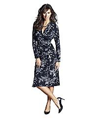 Oriental Print Jersey Dress