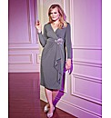 Together Boutique Jewel Trim Wrap Dress