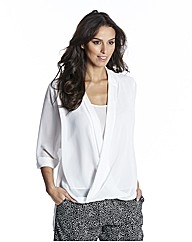 Ava By Mark Heyes Wrap Blouse