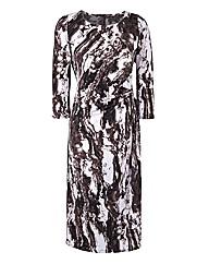 Ava Marble Print Dress