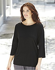 Cowl Back Lace Trim Top