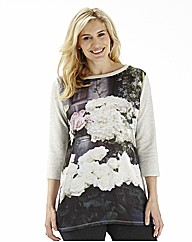 Pampelmousse Floral Print Sweat Top