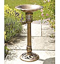 Bird Bath with Multi Colour Solar Light