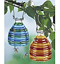Glass Wasp Traps Set of 2