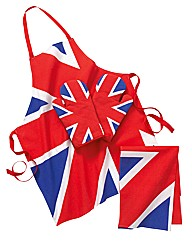 Union Jack Apron, Oven Gloves & TeaTowel