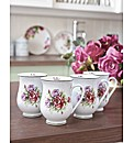 Roses Mugs Set 4 Buy One Get One Free