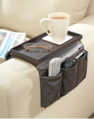 Faux Leather Sofa Organiser