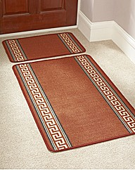 Greek Key Rug with FREE Doormat