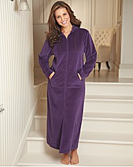 Velour Zip Gown 44inch