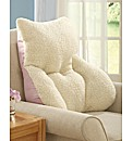 Faux Sheepskin Back Support