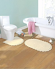 Crochet Bath and Pedestal Mat Set