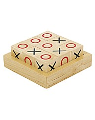 Wooden Retro OXO Game