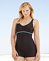 Beach To Beach Long Line Sporty Swimsuit