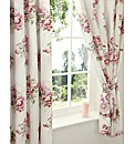 Mia Percale Lined Curtains & Tie Backs