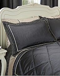 Geo Embellished Quilted Pillowshams