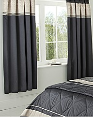 Geo Lined Curtains and Tie Backs