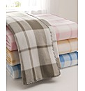 Boston Check Fleece Blanket Single