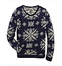 Label J Snowflake Crew Neck Jumper