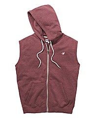 Label J Sleeveless Full Zip Hoody Long