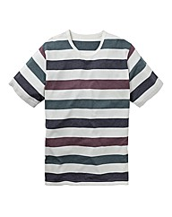 Label J Multi Stripe Tshirt Regular
