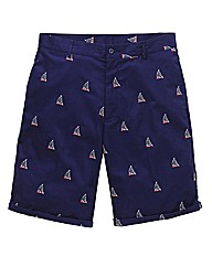 Label J Embroidered Boat Short