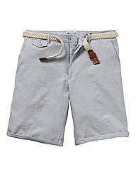 Label J Oxford Shorts With Belt