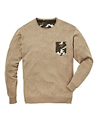 Label J Jumper with Camouflage Pocket