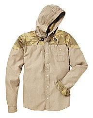 Label J Camo Hood Shacket Regular