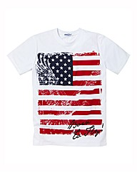 Label J USA Print T-Shirt Long