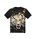 Label J Tiger Print T-Shirt Reg