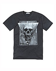 Label J Skull Print T-Shirt Long