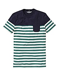 Label J Contrast Stripe Tshirt Long