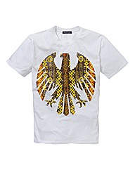 Label J Eagle Print Tshirt Long