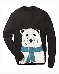 Label J Polar Bear Crew Neck Jumper