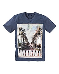 Label J Miami Print Tshirt Long
