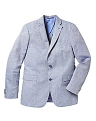 Label J Blue Cotton Blazer