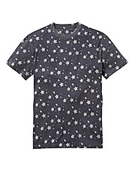 Label J Star Print Tshirt Long