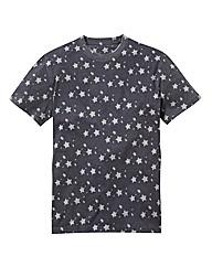 Label J Star Print Tshirt Long