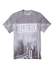Label J Skyline Print Tshirt Long