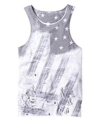 Label J American Flag Vest Long