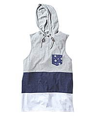 Label J Hooded Vest Long