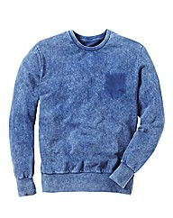 Label J Acid Wash Crew Neck Sweat Long