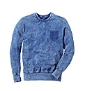Label J Acid Wash Crew Neck Sweat Reg