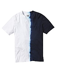 Label J Split Tie Dye Tshirt Long