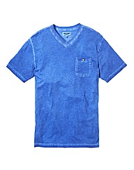 Label J Oil Wash V Neck Tshirt Regular