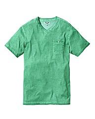 Label J Oil Wash V Neck Tshirt Long
