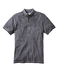Label J Oil Wash Polo Long