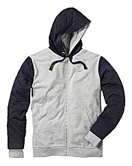 Label J Contrast Full Zip Hood
