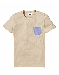 Label J Plain Pocket Tshirt Reg