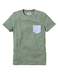 Label J Plain Pocket Tshirt Long